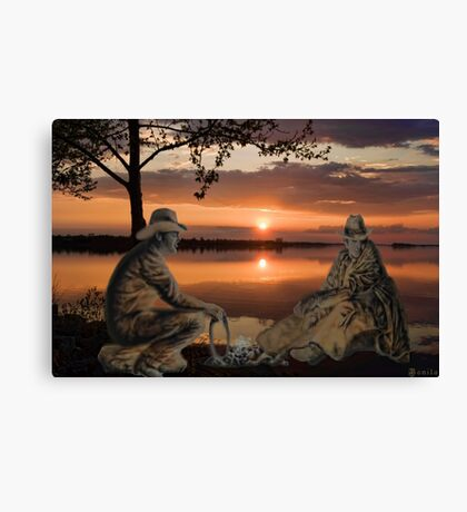 (◡‿◡✿) (◕‿◕✿) SUNSET COWBOYS PICTURE-PILLOW-TOTE BAGS- CELL PHONE COVERS ECT... (◡‿◡✿) (◕‿◕✿) Canvas Print