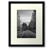 Desolate highway Framed Print