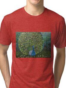 Peacock Garden Tri-blend T-Shirt