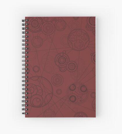 Gallifrey Pattern - Red Spiral Notebook