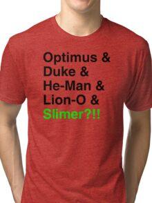 80s Helvetica Spectacular!!! Tri-blend T-Shirt