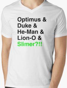 80s Helvetica Spectacular!!! Mens V-Neck T-Shirt