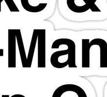 80s Helvetica Spectacular!!! Sticker