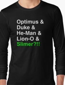 80s Helvetica Spectacular!!! (version B) Long Sleeve T-Shirt