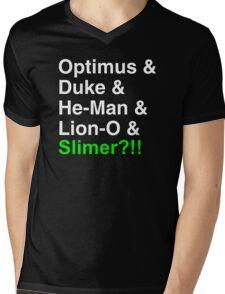 80s Helvetica Spectacular!!! (version B) Mens V-Neck T-Shirt