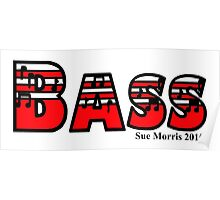 Bass Red Poster