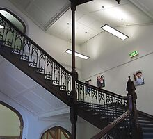 Stairway in 'Brookman Building' Adelaide Uni, built 1889. by Rita Blom