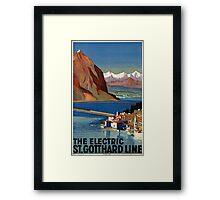 Vintage poster - Switzerland Framed Print