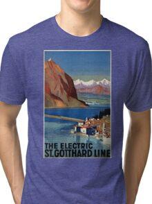 Vintage poster - Switzerland Tri-blend T-Shirt