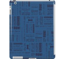 Doctor Quotes - Blue iPad Case/Skin