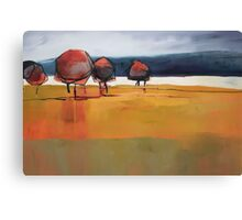 Red Trees Abstract Painting Canvas Print