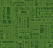 Dr Who Quotes - Green by cinderkella