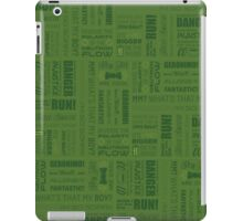 Doctor Quotes - Green iPad Case/Skin