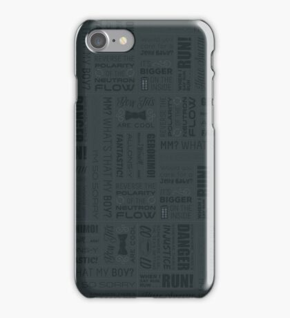 Doctor Quotes - Grey iPhone Case/Skin
