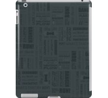 Doctor Quotes - Grey iPad Case/Skin