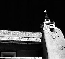 Tower of San Jose de Gracia de Las Trampas Church by Susan Chandler
