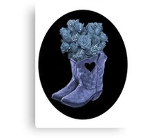 ☆ ★ ☆EVEN COWGIRLS GET THE BLUES -SOMETIMES-(AND COWBOYS 2) TEE SHIRT ☆ ★ ☆¸ Canvas Print