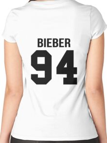 Justin Bieber - College style [BLACK] Women's Fitted Scoop T-Shirt