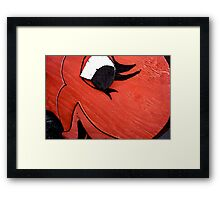 A Big Red Fish Framed Print