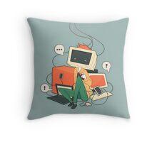 Cyber Kid Throw Pillow