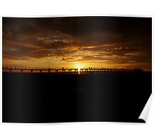 SUNSET -LARGS BAY Poster