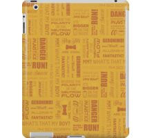 Doctor Quotes - Yellow iPad Case/Skin