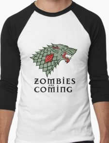 Zombies Are Coming Men's Baseball ¾ T-Shirt