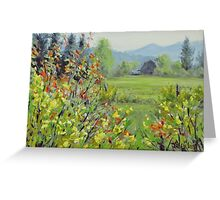 Yellow Broom Spring Greeting Card