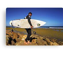 Surfer at Winkipop Canvas Print