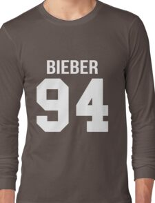 Justin Bieber - College style [WHITE] Long Sleeve T-Shirt