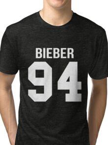Justin Bieber - College style [WHITE] Tri-blend T-Shirt