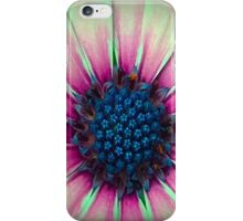 Pink, Green And Blue Flower iPhone Case/Skin