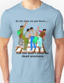 Kid on the tracks Unisex T-Shirt