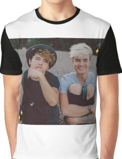 Kian and Jc Black Hearts Graphic T-Shirt