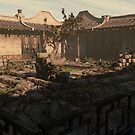 Japanese Courtyard - The Overgrowth by Liam Liberty