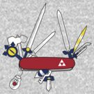 Hylian Army Knife (RED) by donutplains