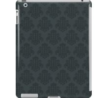 Tardis Damask - Grey iPad Case/Skin