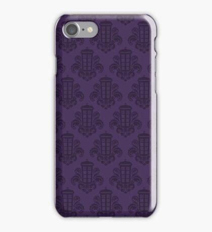 Tardis Damask - Purple iPhone Case/Skin