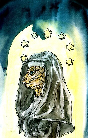 Reptilian Nun by Ashley Peppenger
