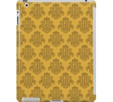 Tardis Damask - Yellow iPad Case/Skin