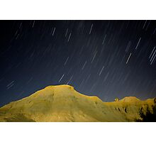 Death Valley star trail Photographic Print