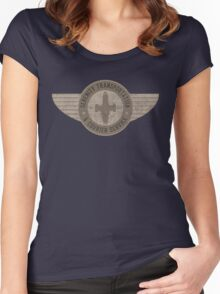 Serenity Transportation & Courier Service Women's Fitted Scoop T-Shirt