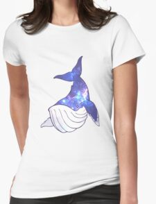 Space Whale - Humpback Womens Fitted T-Shirt