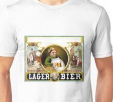 Vintage German Lager Bier Advertisement Unisex T-Shirt