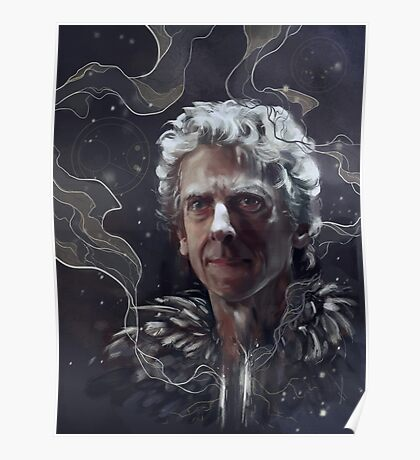 Twelfth Doctor–feathers and snow Poster