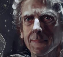 Twelfth Doctor–feathers and snow Sticker