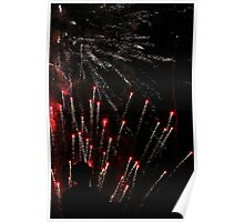 Flares and Silhouettes Poster