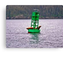 Sea Lions on Buoy Canvas Print