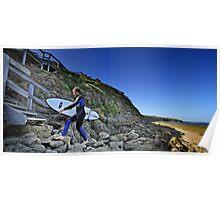 Surfer at Winkipop Poster