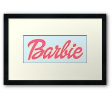 Barbie Logo Framed Print